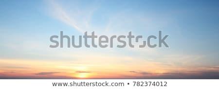 синий · оранжевый · драматический · небе · Панорама - Сток-фото © pzaxe