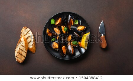 plate with mussels stock photo © antonio-s