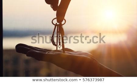 車のキー · ギフト · 手 · 赤 · 背景 - ストックフォト © forgiss