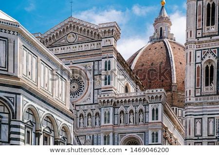 Részlet katedrális Florence Olaszország égbolt épület Stock fotó © w20er