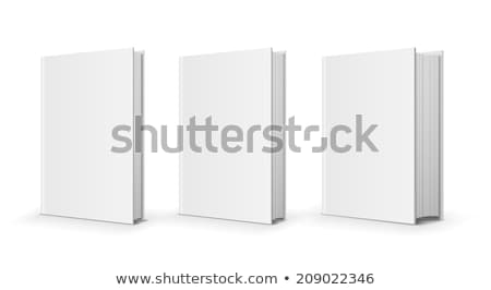 trois · blanche · bureau · papier · livre - photo stock © hanusst