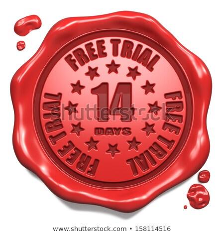 無料 · 7日 · スタンプ · 赤 · ワックス · シール - ストックフォト © tashatuvango