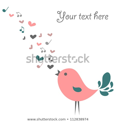 resumen · azul · aves · San · Valentín · corazón · naturaleza - foto stock © kariiika