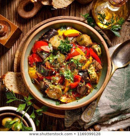 ratatouille made of eggplantzucchini and tomato stock photo © m-studio