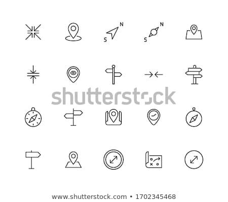 compass, navigation icon Stock photo © djdarkflower
