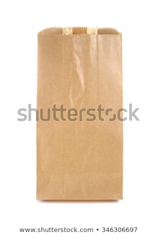 Papírzacskó nyitva üres izolált barna papír táska Stock fotó © marimorena