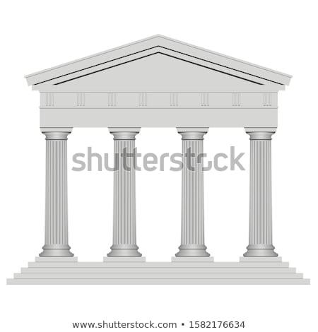 ストックフォト: 古代 · 寺 · ローマ · 建物 · 石
