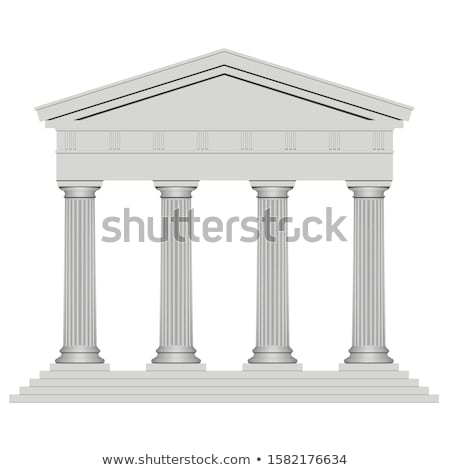 Eski tapınak Roma Bina taş Stok fotoğraf © marco_rubino