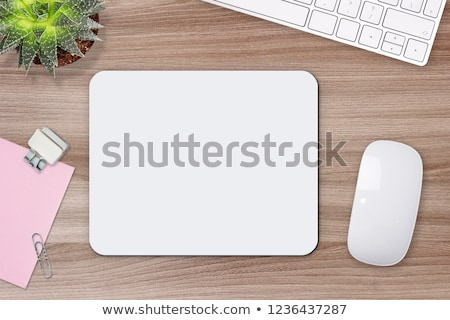 Stock photo: computer mouse and pad