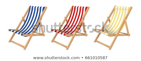 Stockfoto: Dek · stoel · geïsoleerd · witte · zwarte · kleding