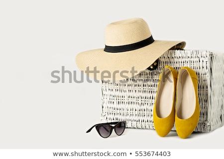 ファッション · 白 · 女性 · 青 - ストックフォト © odina222