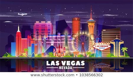 Centro de la ciudad Las Vegas signo noche carretera luz Foto stock © meinzahn