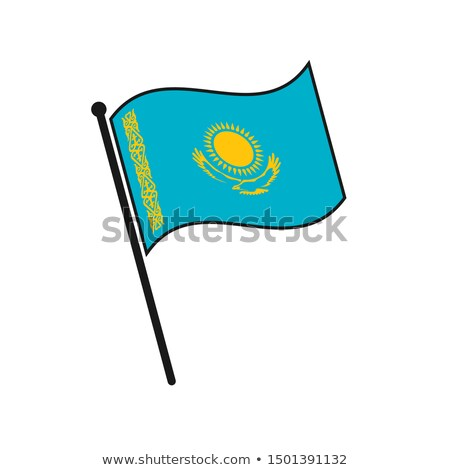 Казахстан небольшой флаг карта избирательный подход реклама Сток-фото © tashatuvango