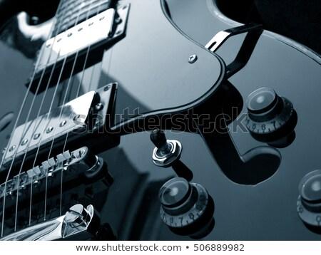 гитаре · электрической · гитаре · изолированный · черный · музыку - Сток-фото © nejron