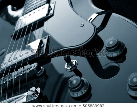gitaar · detail · rock · rollen · zwarte - stockfoto © nejron