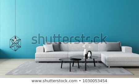 minimalist interior room with lounge chair stock photo © vizarch