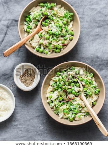 Risotto vegetal dieta tigela italiano nutrição Foto stock © M-studio