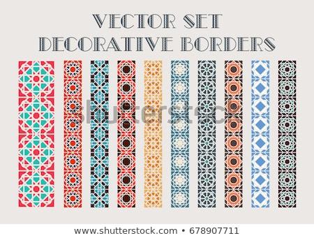 Keret színes keret mozaik minta vektor Stock fotó © bharat