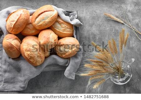 Dos pan blanco blanco placa pan tela Foto stock © raphotos