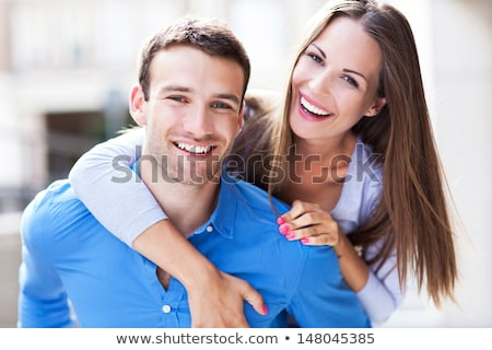 souriant · couple · à · l'extérieur - photo stock © artush