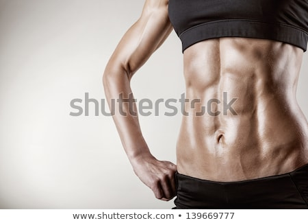 Közelkép sportos női sportruha fitnessz diéta Stock fotó © dolgachov