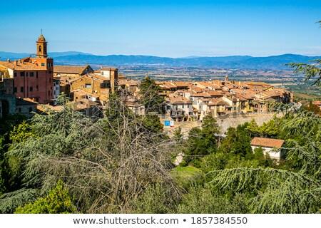 Rooftops Montepulciano Stock photo © w20er