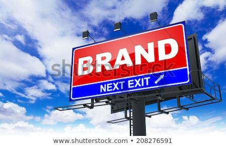 új · kompetencia · piros · óriásplakát · égbolt · üzlet - stock fotó © tashatuvango