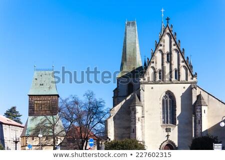 church of Saint Barthelemy, Rakovnik, Czech Republic Stock photo © phbcz