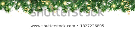 Xmas Border With Fir Tree Stock photo © barbaliss