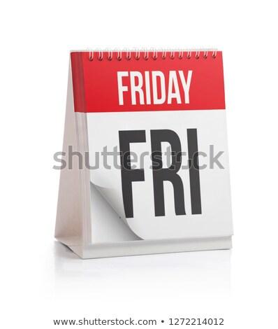Tuesday Calendar Schedule Blank Page Stock photo © stevanovicigor