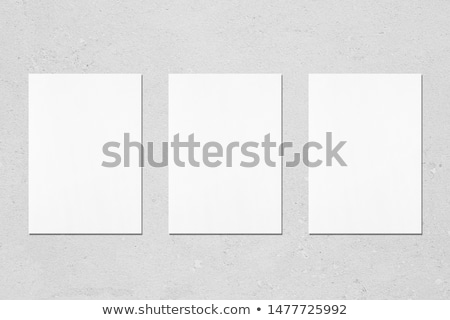 vazio · papel · três · vários · suporte · textura - foto stock © iunewind