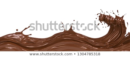Chocolate onda abstrato chocolate escuro escuro vetor Foto stock © saicle