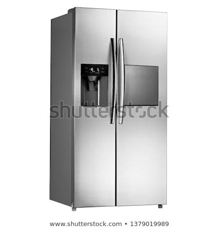 ダブル · ドア · 冷凍庫 · 白 · パス - ストックフォト © ozaiachin
