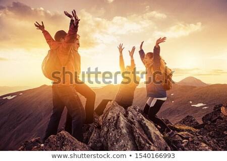Family Team 4 happy people celebrating Stock photo © joseph_arce