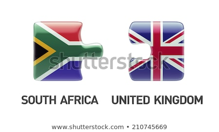 South Africa and England Flags in puzzle  Stock photo © Istanbul2009