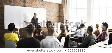 visão · estratégia · engrenagens · pessoas · sucesso · equipe - foto stock © lightsource