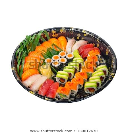 take away sushi express on plastic tray  Stock photo © keko64