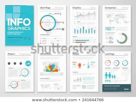 set of vector flat design infographic charts and graphs stock photo © orson