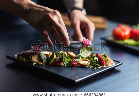 Chef prepares BBQ Stock photo © -Baks-