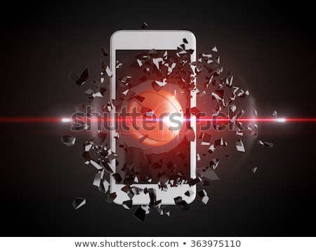 Stock photo: basketball burst out of the smartphone