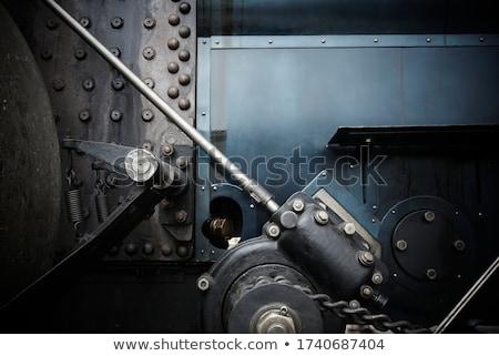 velho · retro · vapor · trem · pequeno · estação - foto stock © oleksandro