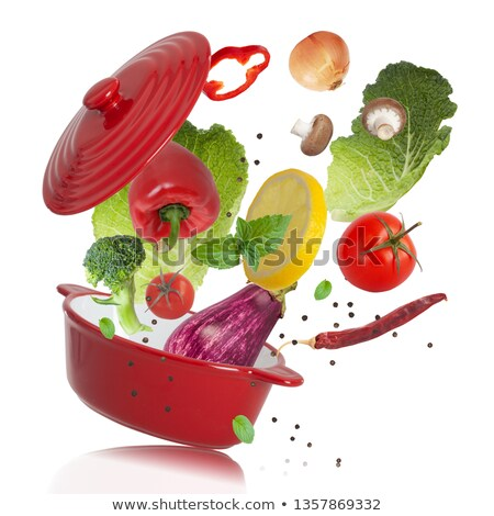 green and red saucepan isolated  Stock photo © ozaiachin