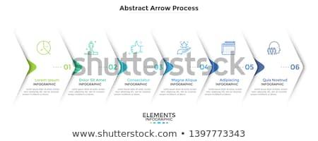 vecteur · progrès · six · étapes · modèle · une - photo stock © netkov1