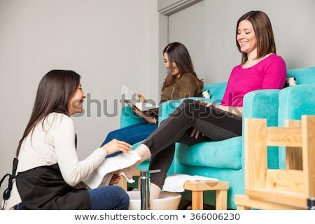 Client pédicure femme beauté Ouvrir la Photo stock © wavebreak_media