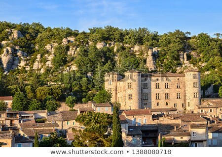 Középkori kastély város divat Franciaország nyár Stock fotó © haraldmuc