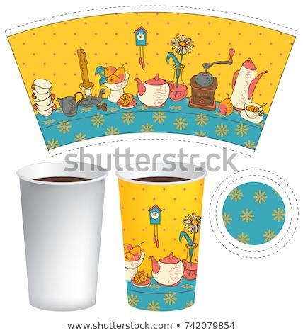 Caldo plastica Cup bollitore isolato Foto d'archivio © shutswis