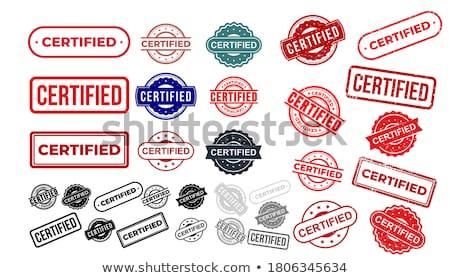 Certificado vermelho vetor ícone projeto digital Foto stock © rizwanali3d
