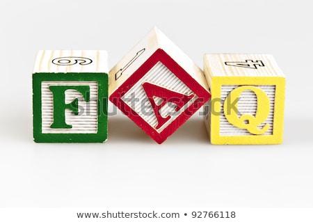 Faq palavra peças grupo carta comunicação Foto stock © fuzzbones0