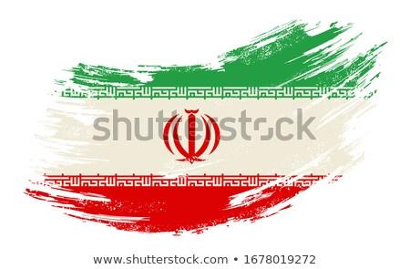 Vlag Iran geschilderd borstel solide abstract Stockfoto © tang90246