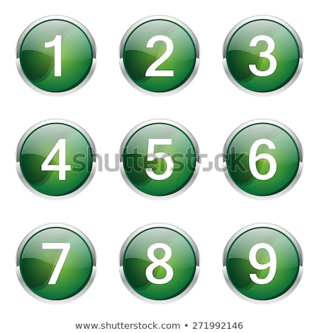 8 number circular vector green web icon button stock photo © rizwanali3d